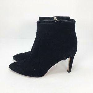 Sam Edelman Black Zip Up Heels Ankle Boots 8